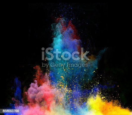 istock Launched colorful powder 858663766
