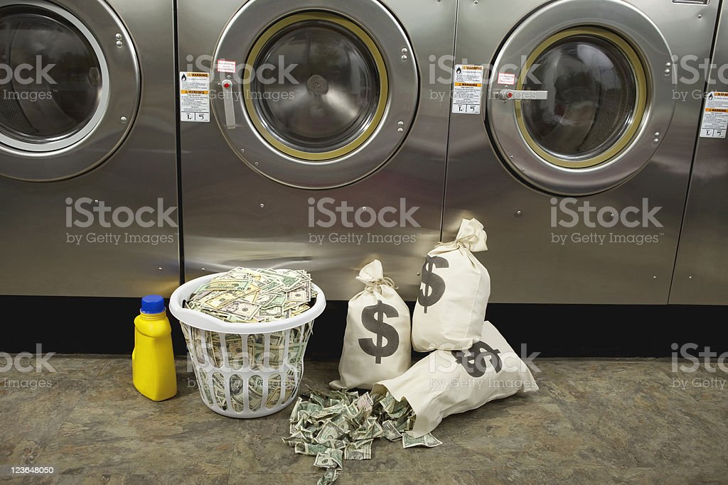 Laundering Money stock photo