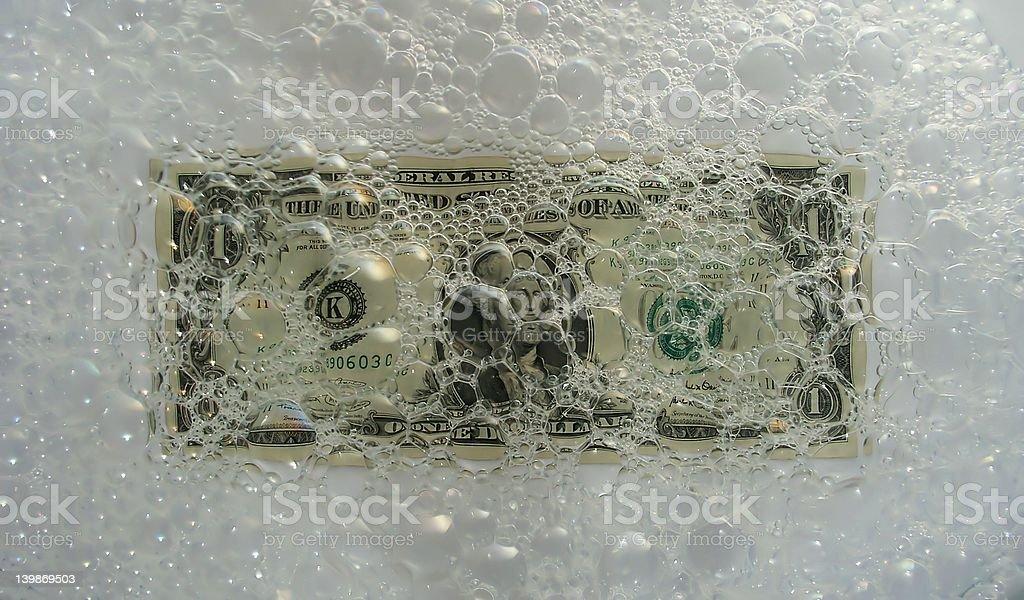 Laundering money royalty-free stock photo