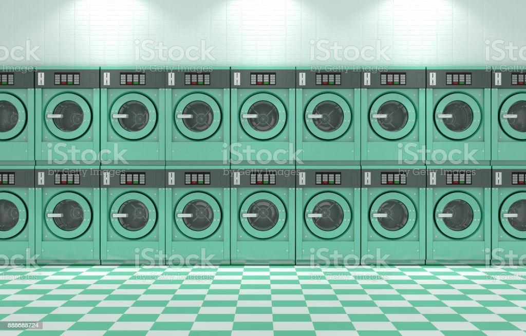 Laundromat Clean stock photo