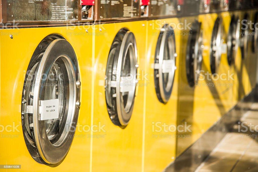 Laundromat stock photo