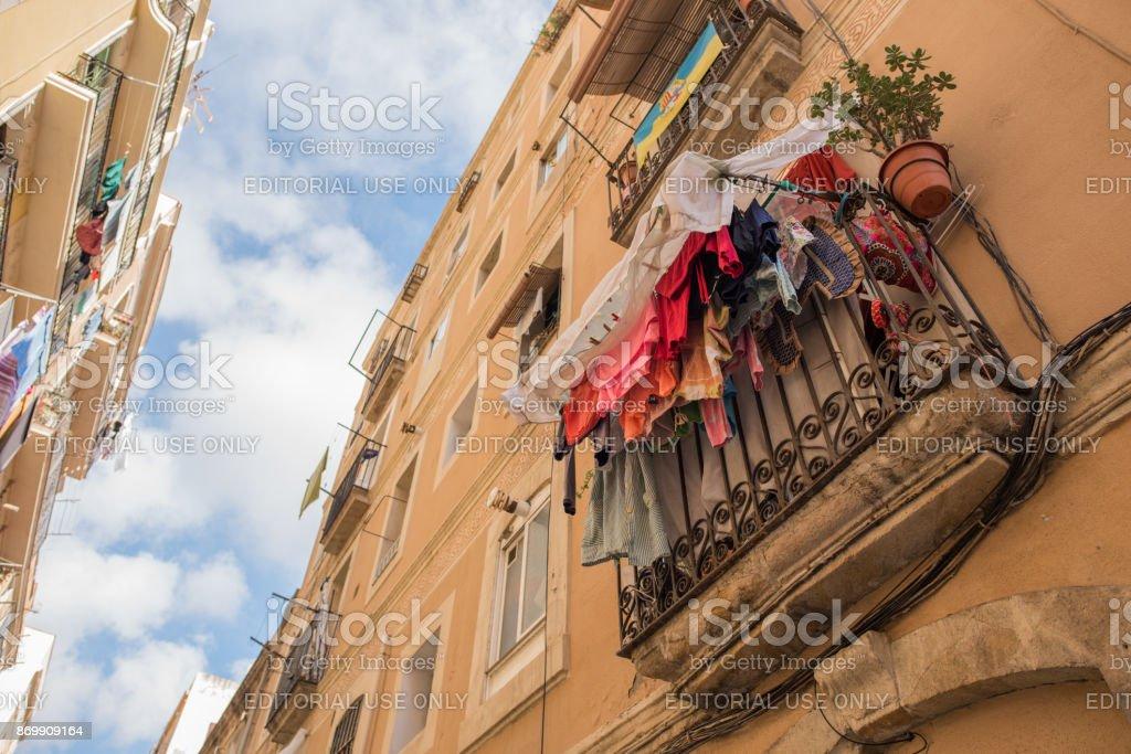 Lavandería por encima en la Barceloneta, Barcelona - foto de stock