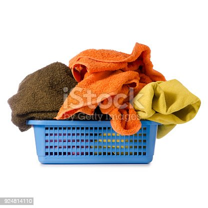 460589747istockphoto Laundry Basket with colorful towel 924814110