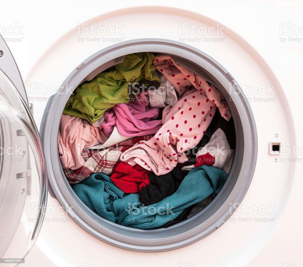Laundry before washing stock photo
