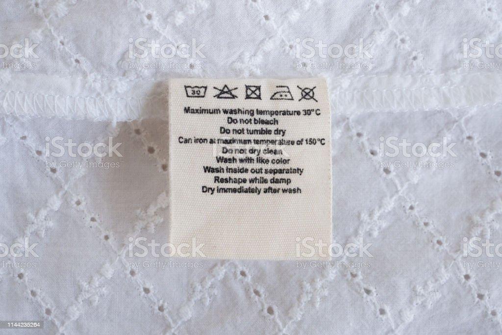 Lavandería Instrucciones De Lavado De Ropa Etiqueta De Fondo