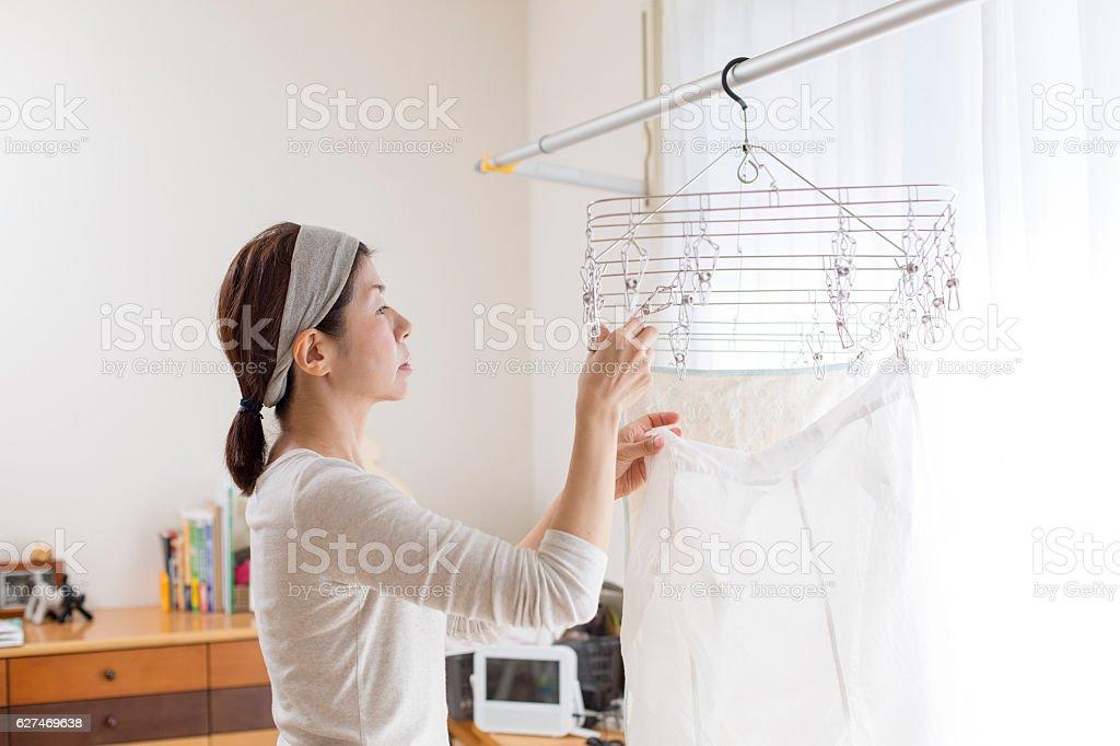 Laundry clothes stock photo