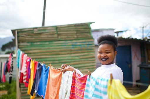 Laundry Day Joys Smiling