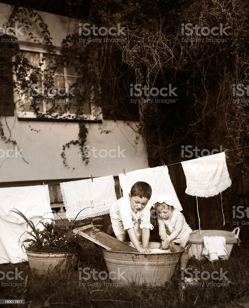 laundry day royalty-free stock photo