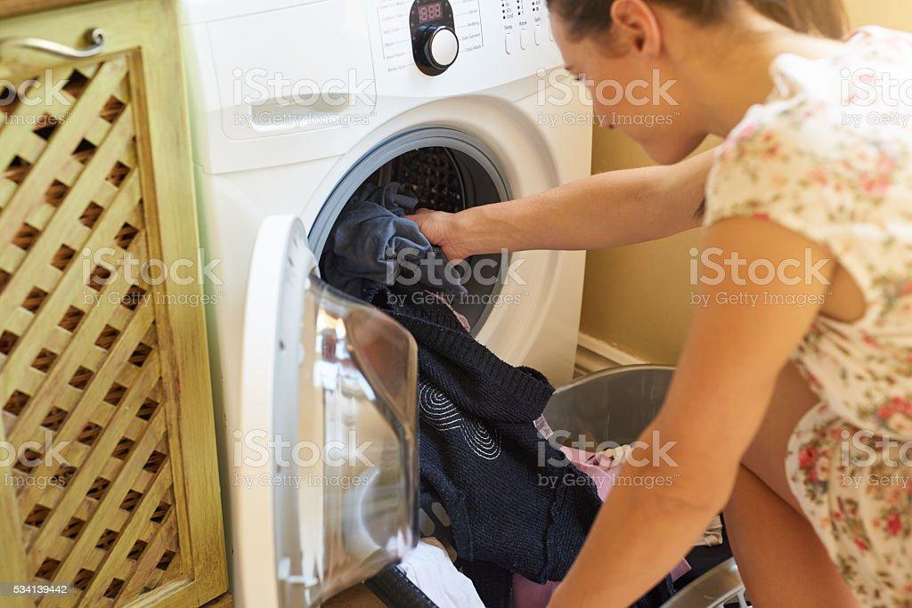 Laundry day stock photo