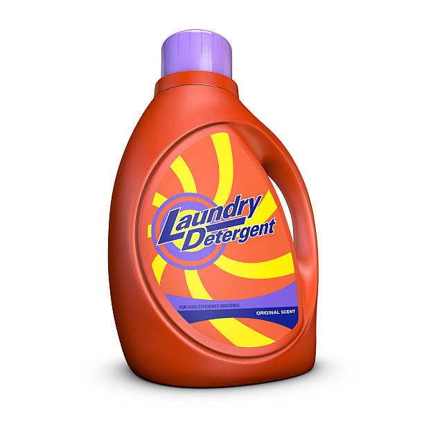 Laundry Detergent Bottle Laundry Detergent Bottle isolated on white background. Includes Clipping Path. laundry detergent stock pictures, royalty-free photos & images