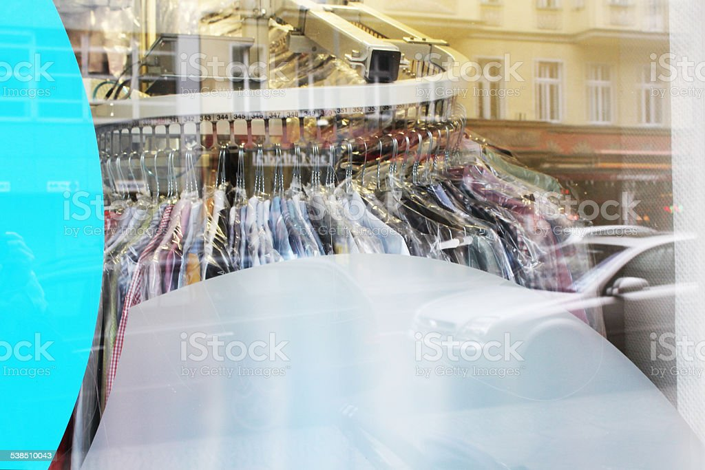 Laundry & Dry Cleaner stock photo