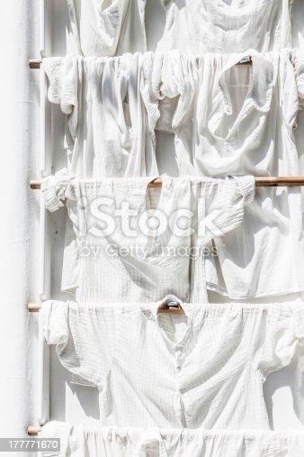 istock Laundry hanging outdoor 177771670