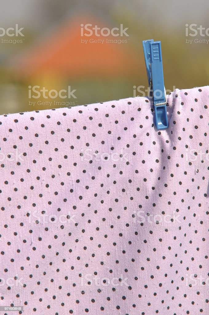 laundry hanging outside with clothespin royalty-free stock photo
