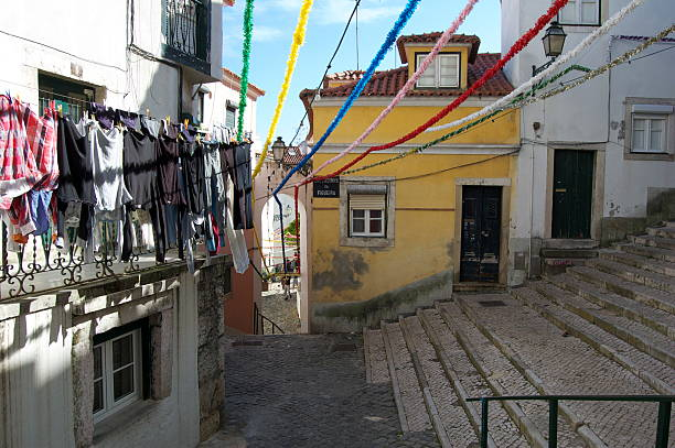 Laundry Hangs in Lisbon