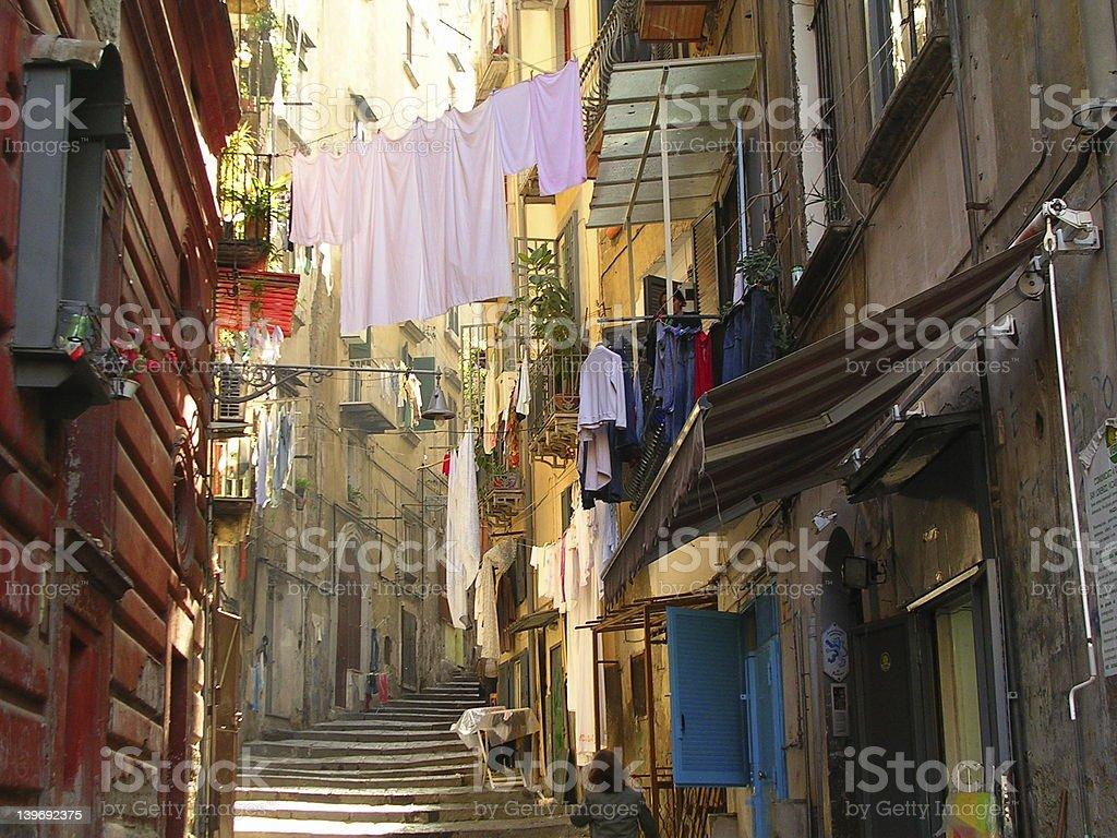 Laundry in Naples stock photo