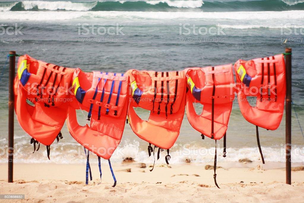 Laundry Life Vest stock photo