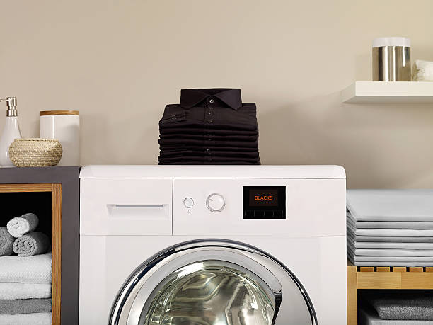 laundry room and blacks - laundry laundry room stock photos and pictures
