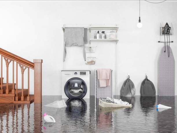 laundry room flooded - basement stock pictures, royalty-free photos & images