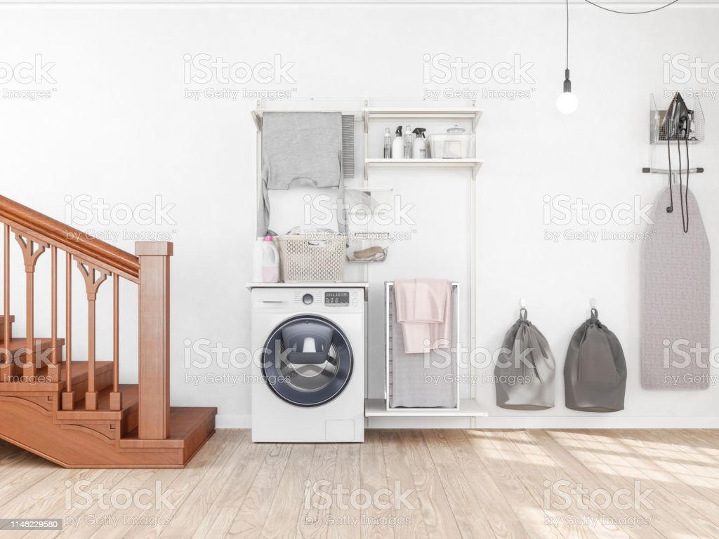 Laundry Room With Washing Machine Stock Photo Download Image Now
