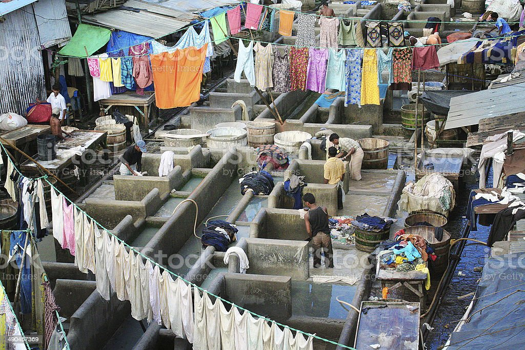 Laundry Service District in Mumbai India stock photo
