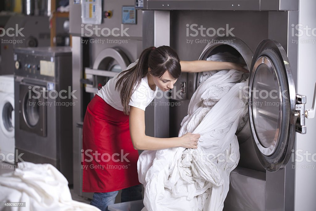 Laundry service. stock photo