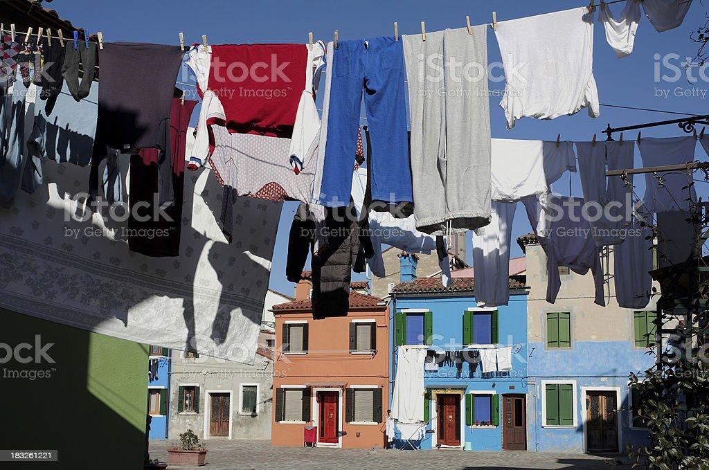 laundry street stock photo
