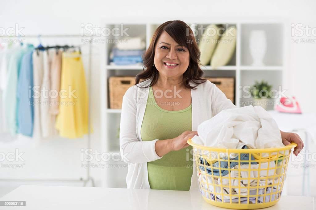 Laundry time stock photo