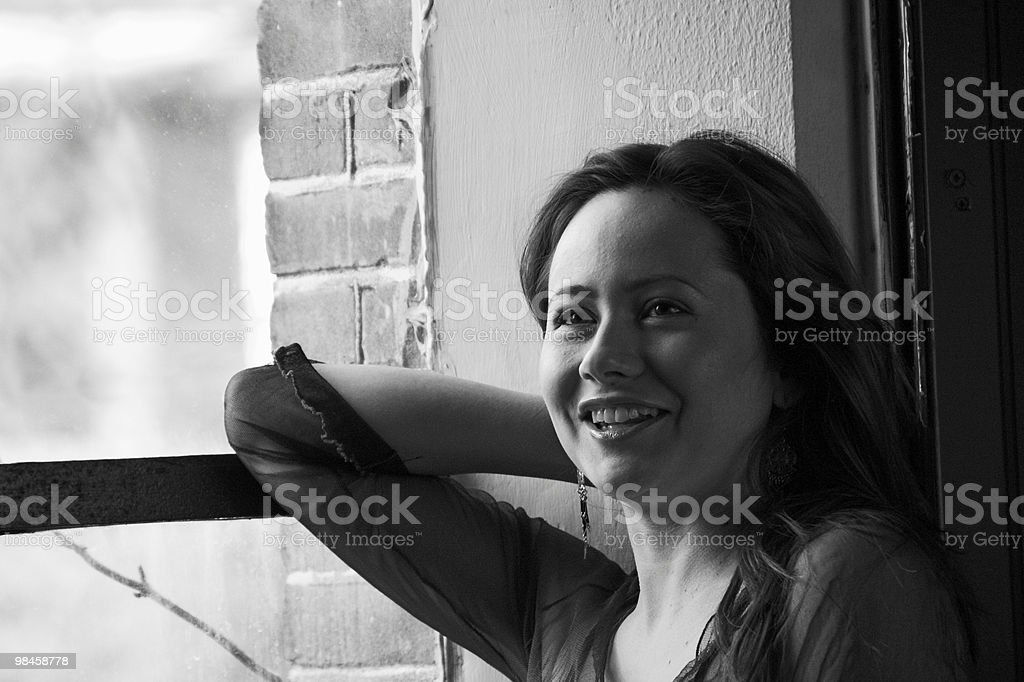 Laura with a smile royalty-free stock photo