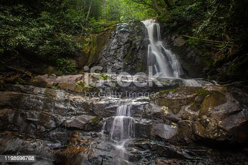 Laurel Falls - a waterfall in Great Smoky Mountains National Park