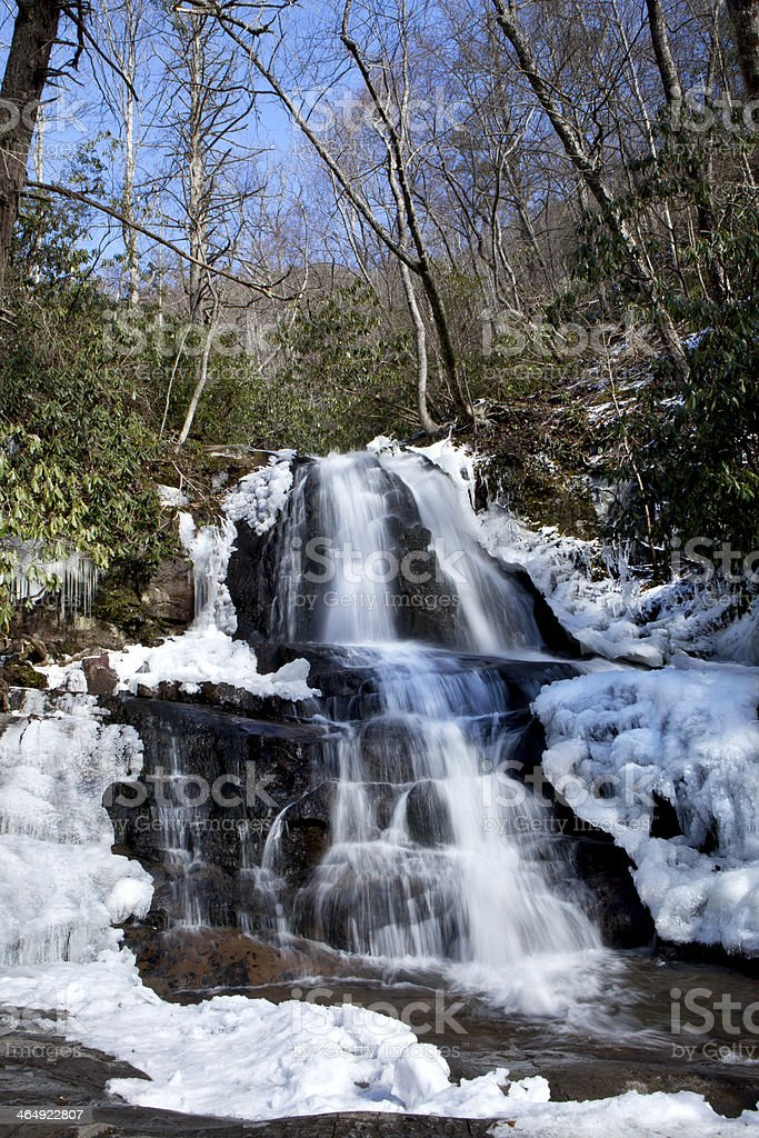 Laurel Falls in Great Smoky Mountains National Park royalty-free stock photo