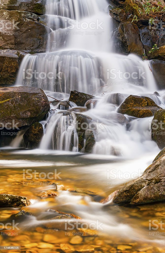 Laurel Falls in the Smoky Mountains royalty-free stock photo