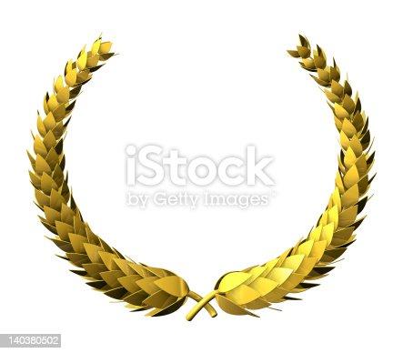 istock Laurel Wreath golden 140380502
