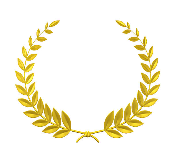 Laurel Wreath Laurel Wreath isolated on white background. 3D render insignia stock pictures, royalty-free photos & images