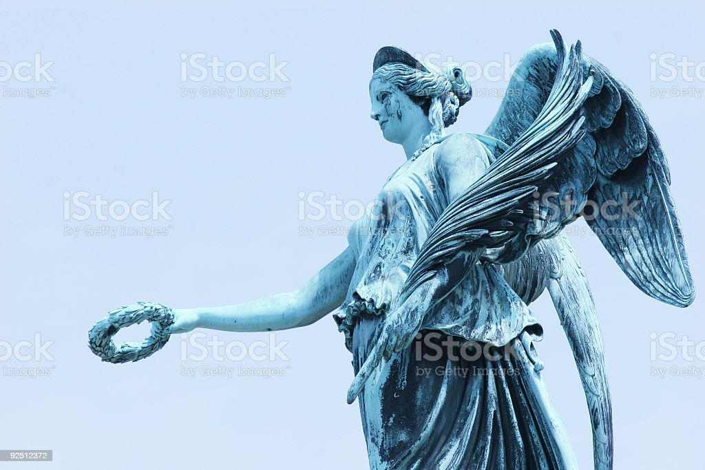 Laurel wreath statue royalty-free stock photo