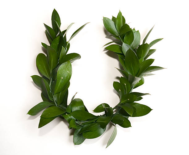 Laurel-wreath stock photo