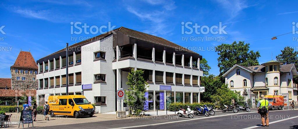 Laurenzenvorstadt street in Aarau, Switzerland stock photo