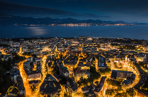 Lausanne Cityscape in Switzerland
