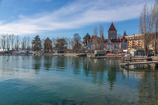 Lausanne landscape near Leman lake, . Switzerland