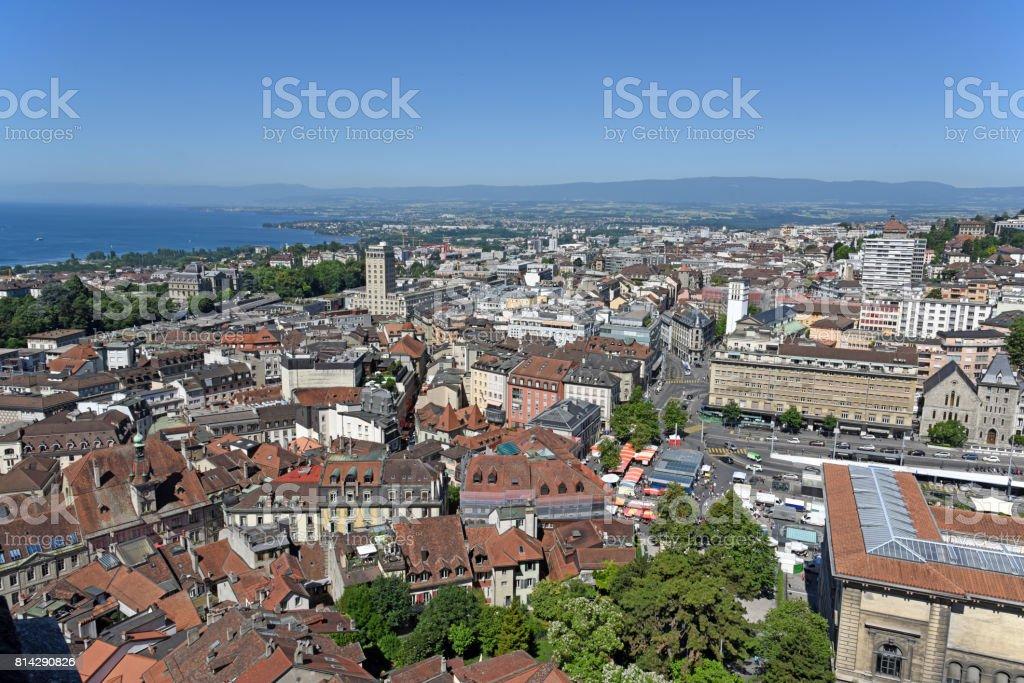 Lausanne stock photo
