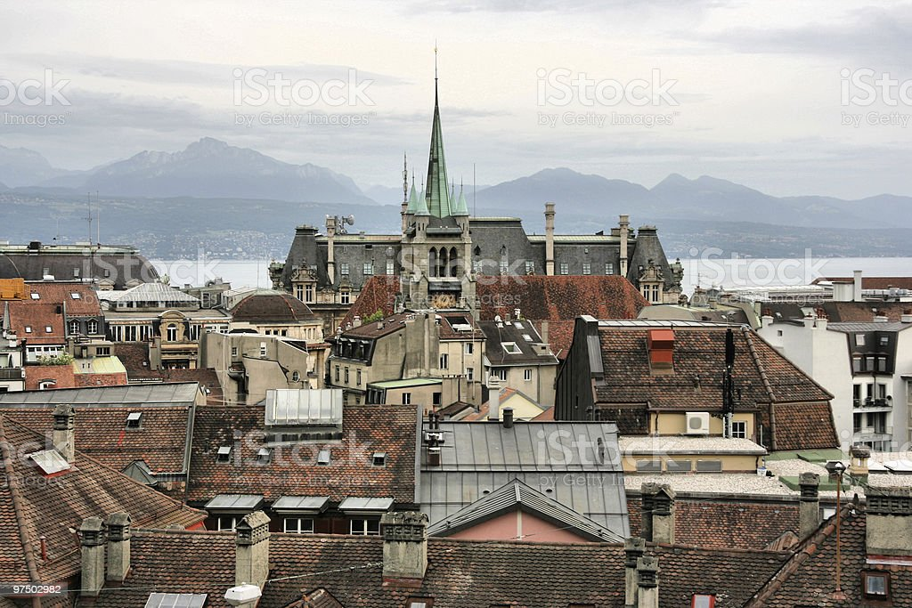 Lausanne royalty-free stock photo