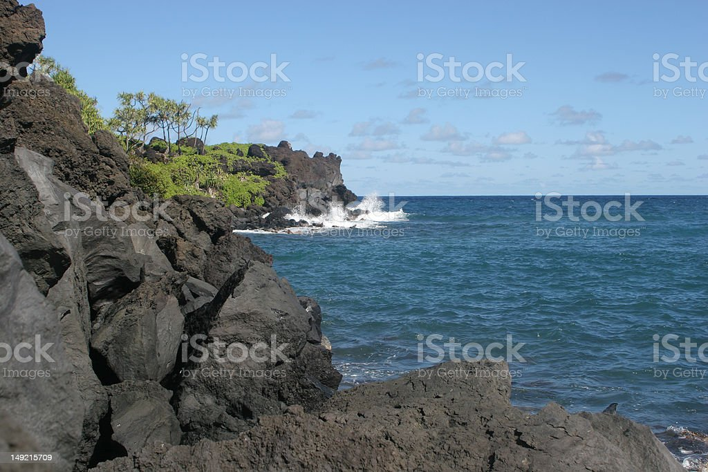 Lava and Bay royalty-free stock photo