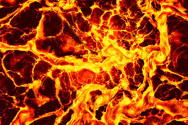Lava Background Full frame shot of hot churning lava. lava stock pictures, royalty-free photos & images