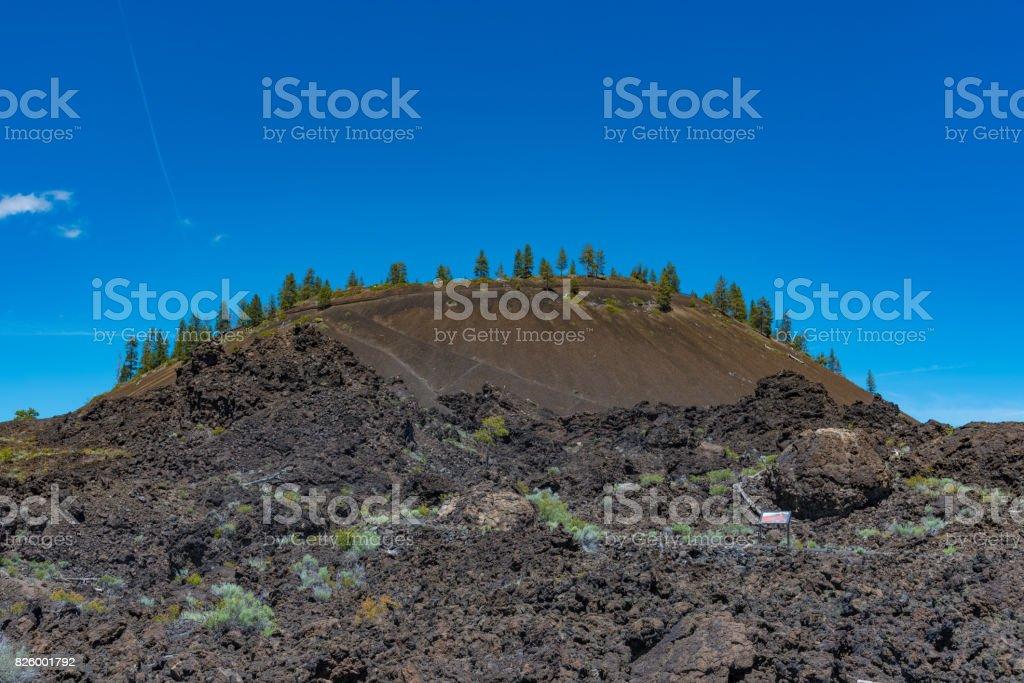 Lava Butte near Bend, Oregon stock photo