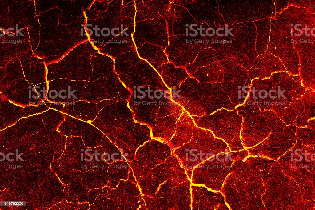 Lava crack cement wall background. stock photo