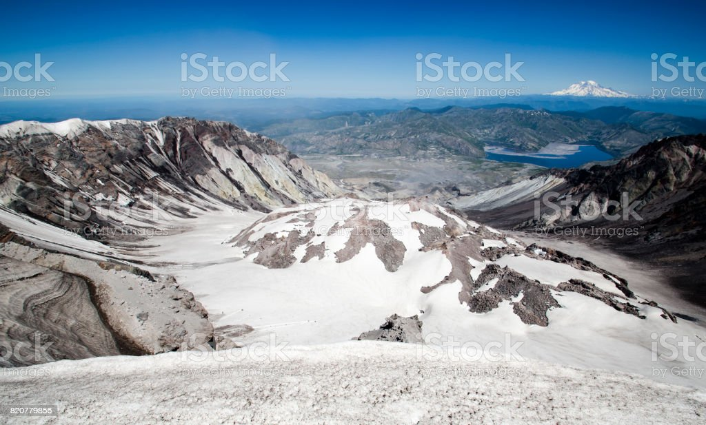 Lava Dome of Mount St. Helens stock photo