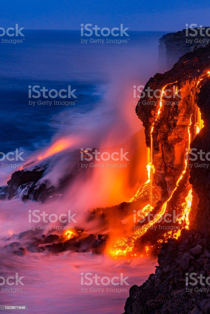 Lava Falls at Kilauea 13 stock photo