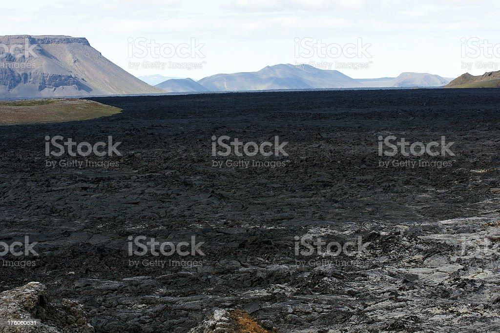 Lava field at Krafla, Iceland. stock photo