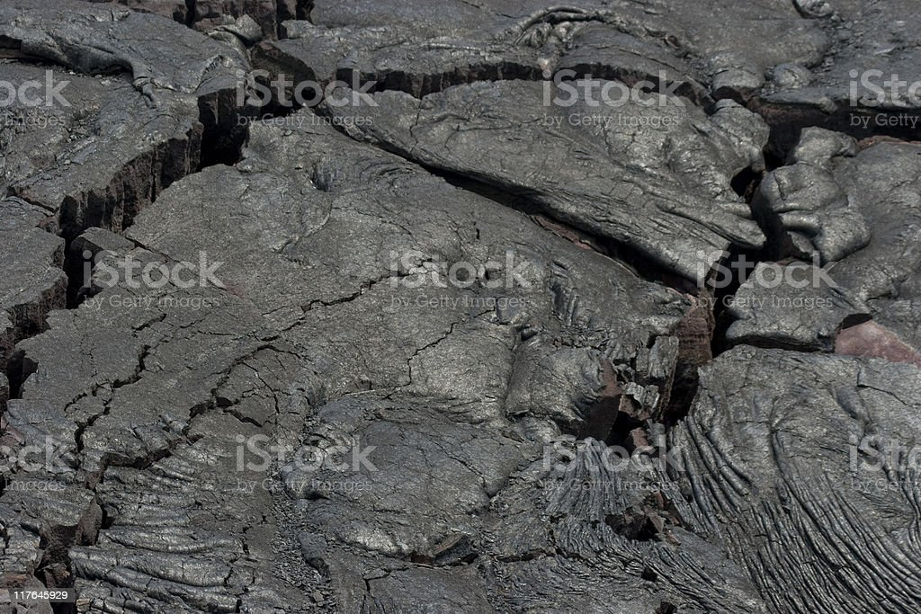 Lava Field, Fissures, Volcanic Activity, Igneous Rock, Cracking, Volcano royalty-free stock photo