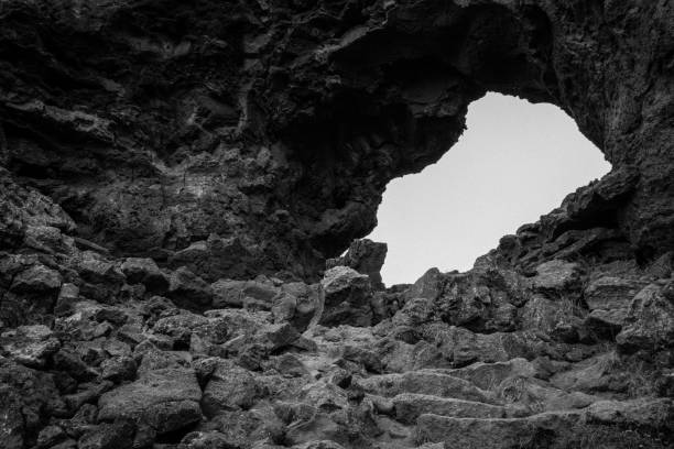 Lava field, Iceland stock photo
