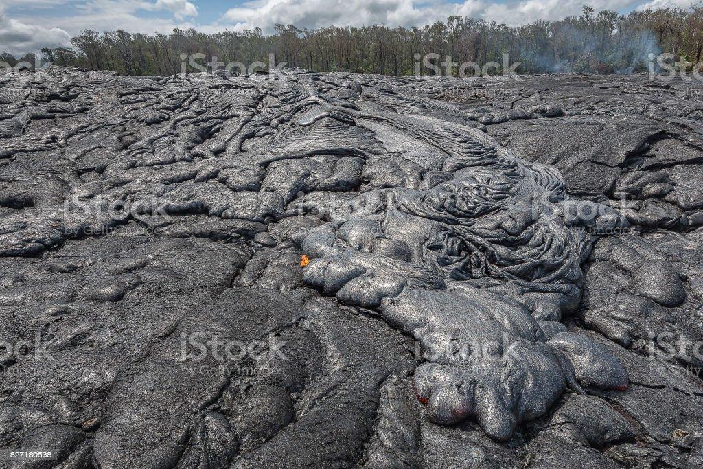 Lava Field in Hawaii stock photo